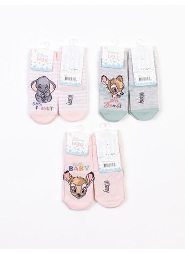 Bambi  Bambi Lisanslı 6 Çift Bebek Çorap 18221 Pudra